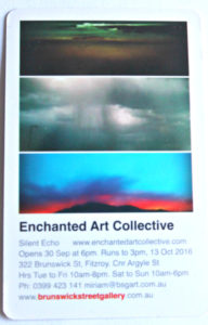 Printed up  Enchanted Art Collective exhibition Silent Echo